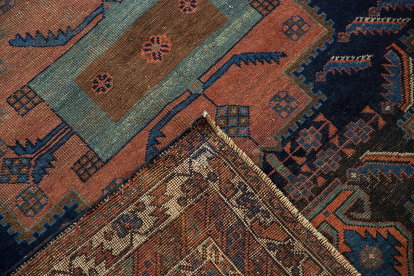 Antique Afshar Square Rug / Item sm001420 image 12