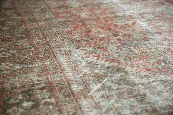 Vintage Distressed Mahal Square Carpet / Item sm001426 image 4