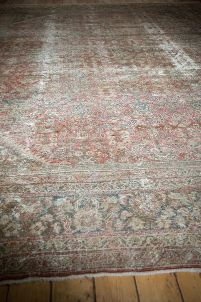 Vintage Distressed Mahal Square Carpet / Item sm001426 image 5