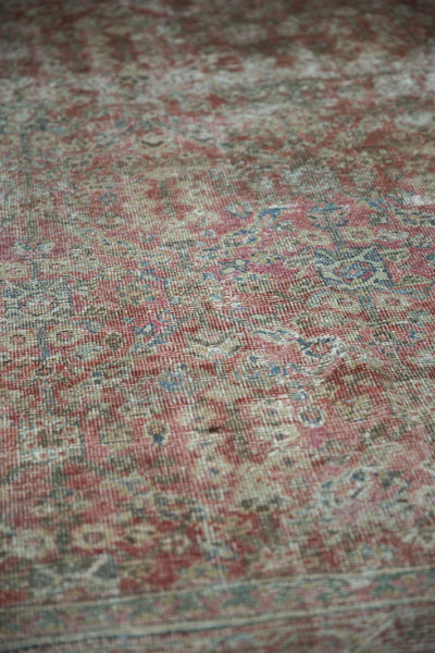 Vintage Distressed Mahal Square Carpet / Item sm001426 image 6
