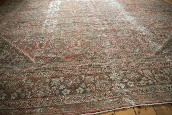 Vintage Distressed Mahal Square Carpet / Item sm001426 image 11