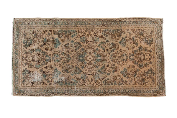 Vintage Distressed Sarouk Rug Runner / ONH item sm001474