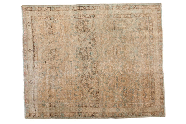 Vintage Distressed Northwest Persian Square Rug / ONH item sm001480