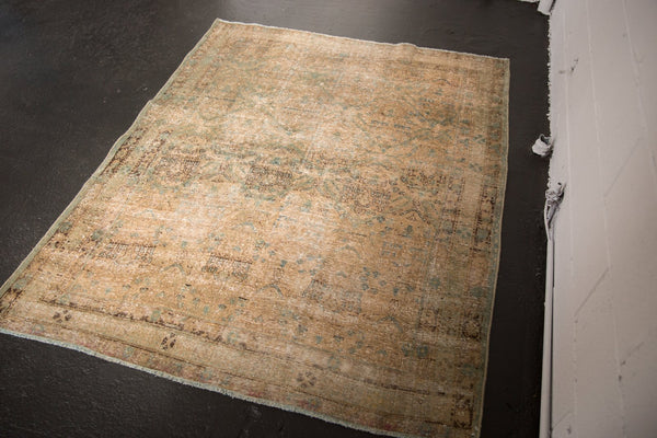 Vintage Distressed Northwest Persian Square Rug / ONH item sm001480 image 6