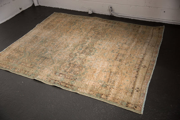 Vintage Distressed Northwest Persian Square Rug / ONH item sm001480 image 9