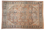 Vintage Distressed Mahal Carpet / ONH item sm001490