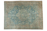 Vintage Distressed Tabriz Carpet / ONH item sm001501