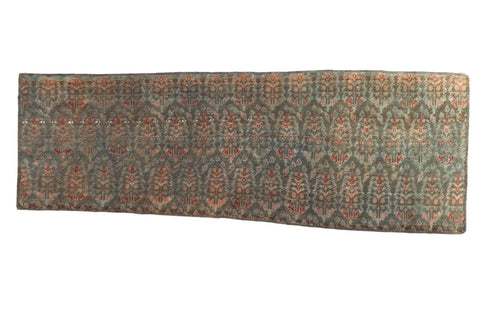 Vintage Distressed Fragment Malayer Rug Runner / ONH item sm001506