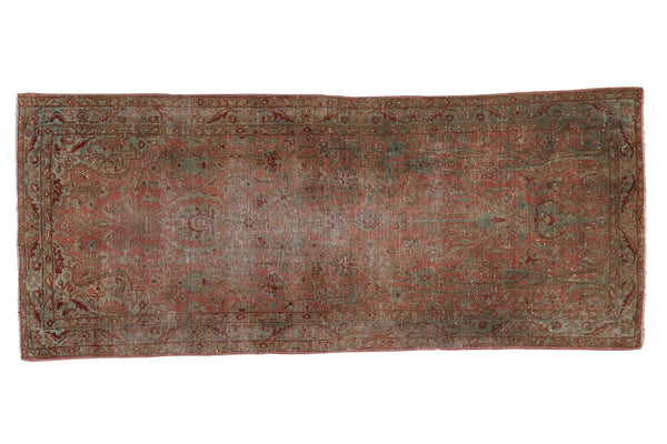 Vintage Distressed Yazd Rug Runner / ONH item sm001507