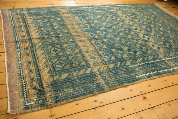 Vintage Distressed Belouch Carpet / ONH item sm001514 Image 2