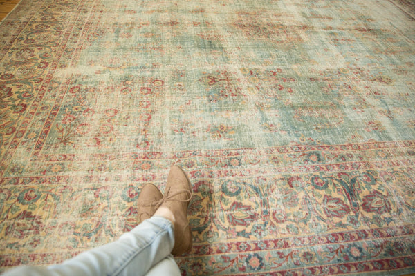 Vintage Distressed Kerman Square Carpet / ONH item sm001515 Image 1