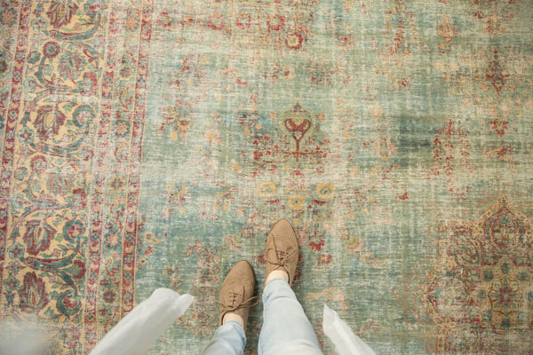 Vintage Distressed Kerman Square Carpet / ONH item sm001515 Image 2