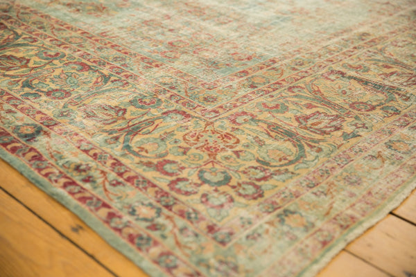 Vintage Distressed Kerman Square Carpet / ONH item sm001515 Image 4