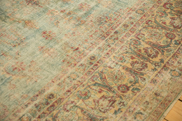 Vintage Distressed Kerman Square Carpet / ONH item sm001515 Image 5
