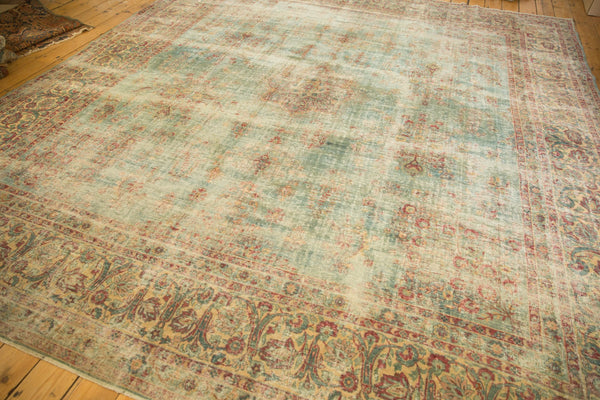Vintage Distressed Kerman Square Carpet / ONH item sm001515 Image 6