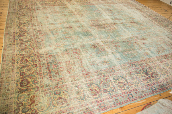 Vintage Distressed Kerman Square Carpet / ONH item sm001515 Image 7