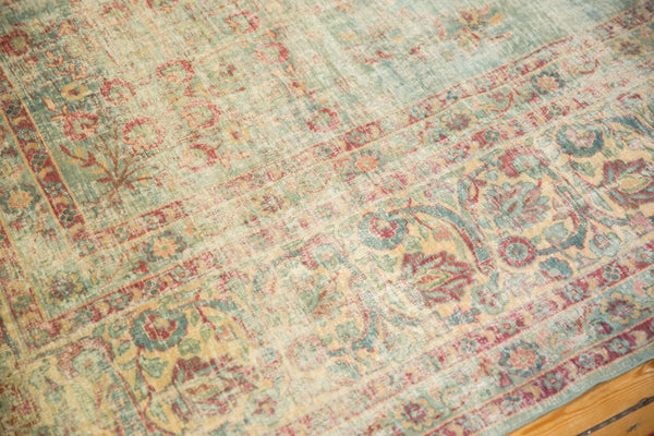 Vintage Distressed Kerman Square Carpet / ONH item sm001515 Image 8