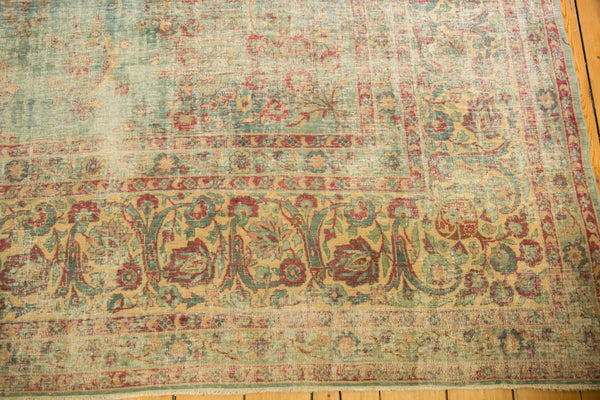 Vintage Distressed Kerman Square Carpet / ONH item sm001515 Image 9
