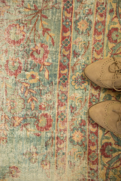 Vintage Distressed Kerman Square Carpet / ONH item sm001515 Image 10