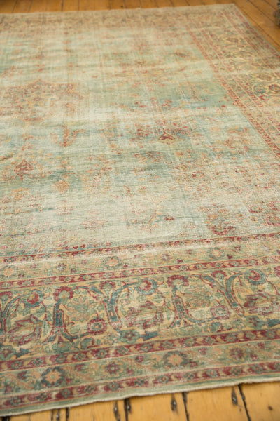 Vintage Distressed Kerman Square Carpet / ONH item sm001515 Image 14
