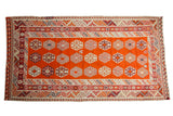 5x9.5 Vintage Turkish Kilim Carpet // ONH Item sm001557