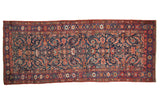 3.5x8.5 Antique Fragment Kurdish Bijar Rug Runner // ONH Item sm001558