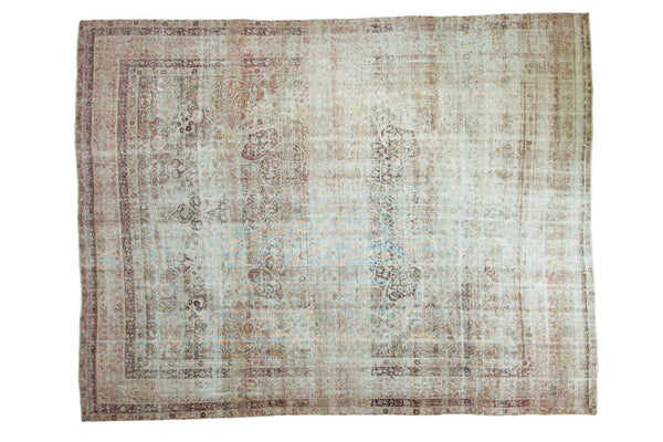 Antique Distressed Kermanshah Carpet