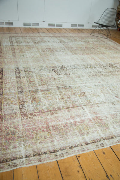 9x11.5 Antique Distressed Kermanshah Carpet - Old New House