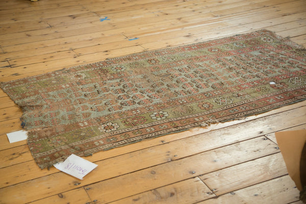 Antique Distressed Kurdish Rug Fragment / Item tm01118 image 3