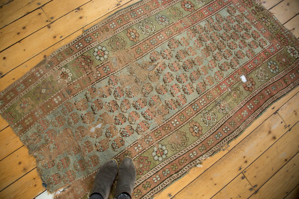 Antique Distressed Kurdish Rug Fragment / Item tm01118 image 4
