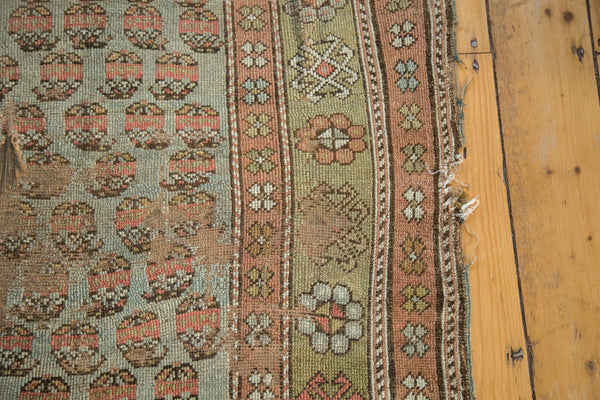 Antique Distressed Kurdish Rug Fragment / Item tm01118 image 8