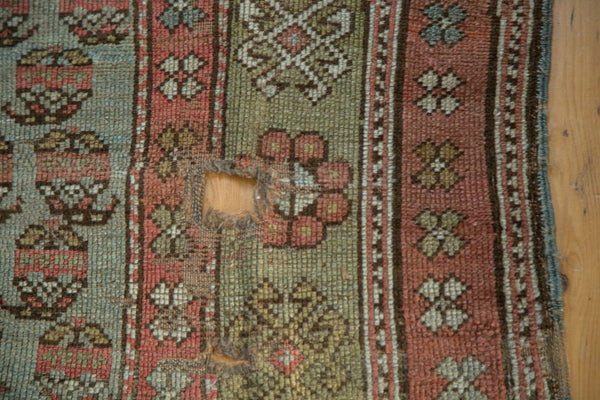 Antique Distressed Kurdish Rug Fragment / Item tm01118 image 9