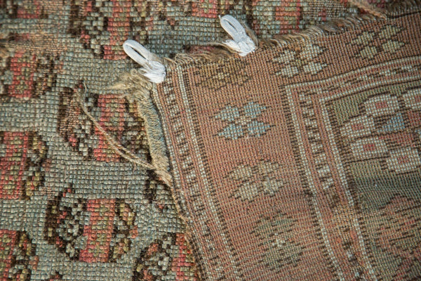 Antique Distressed Kurdish Rug Fragment / Item tm01118 image 15