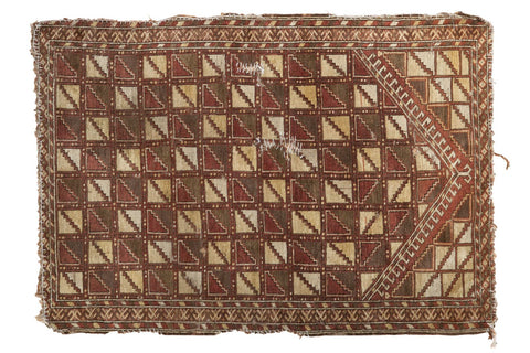 2.5x4 Antique Belouch Prayer Rug // ONH Item tm01120
