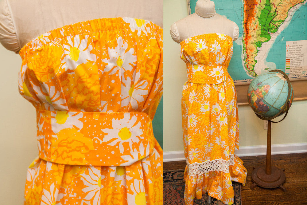 Vintage 60s Lilly Pulitzer Bright Floral Dress - Old New House