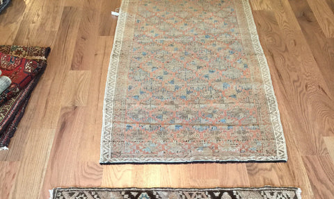 2.5x5 Vintage Belouch Rug Runner - Old New House
