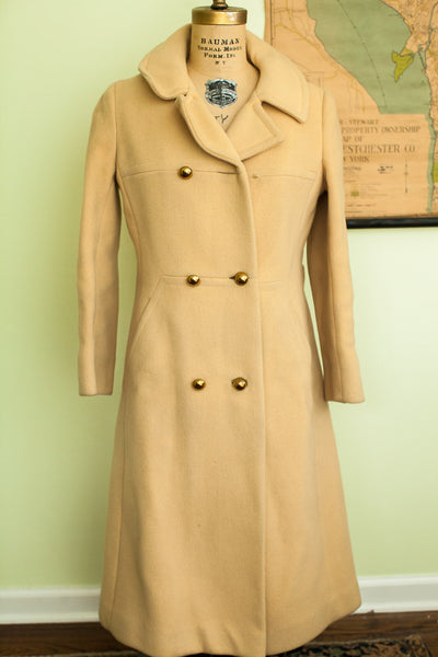 Vintage 60s Yellow Saks Fifth Avenue Wool Coat - Old New House
