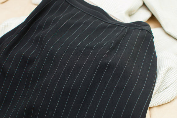 Vintage 80s Pinstripe Gaultier Suit Skirt - Old New House