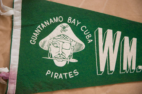 Guantanamo Bay Cuba Pirates Felt Flag Pennant