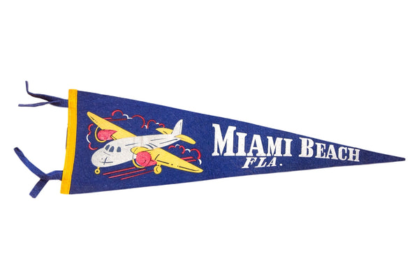 Miami Beach Felt Flag Pennant