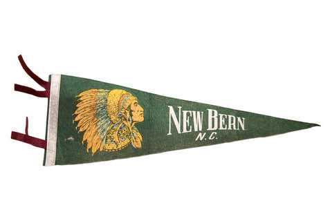 New Bern North Carolina NC Felt Flag Pennant