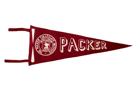 Packer Collegiate Institute Vintage Felt Flag Pennant Brooklyn NY
