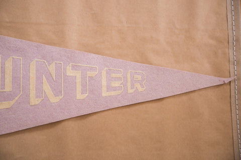 Faded Hunter College New York Felt Flag Pennant