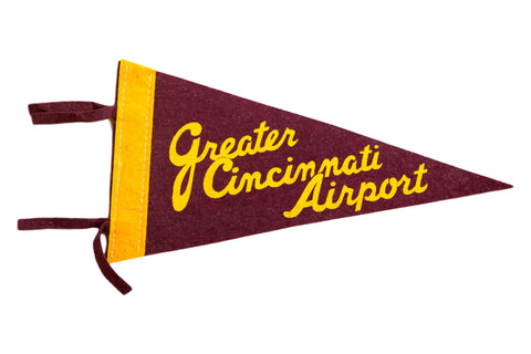Greater Cincinnati Airport Felt Flag Pennant