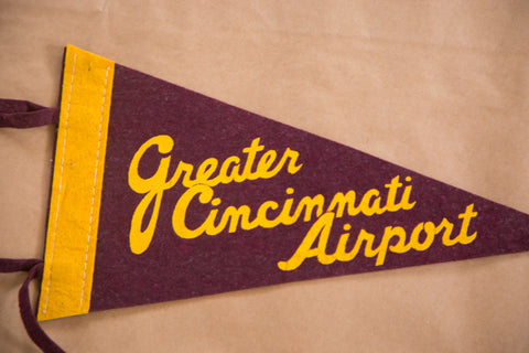 Greater Cincinnati Airport Ohio OH Felt Flag Banner Pennant