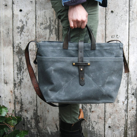 Peg and Awl Tote Bag in Slate