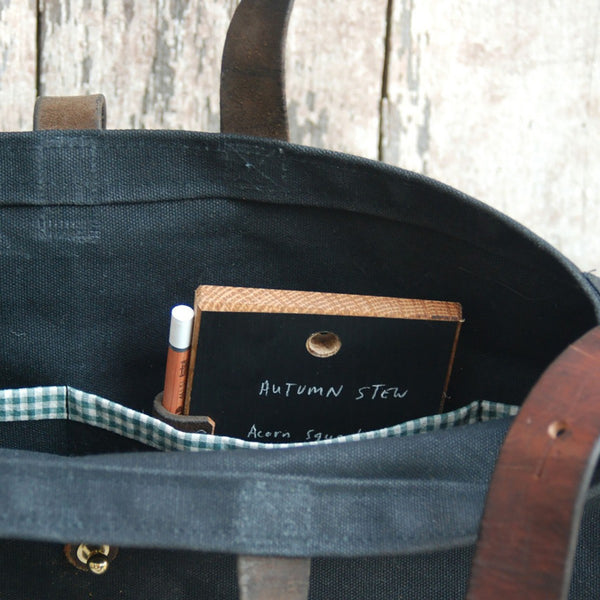 Peg and Awl Tote Bag in Slate - Old New House