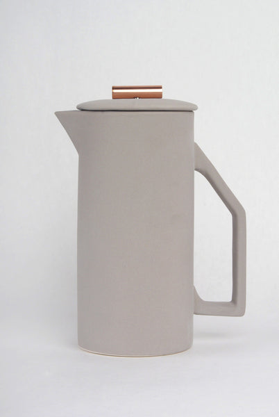 Modern Gray Copper Tip French Press 850 mL - Old New House