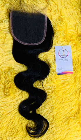 4*4 BODY WAVE TRANSPARENT CLOSURE