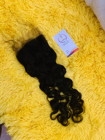 5*5 SPANISH CURL TRANSPARENT CLOSURE